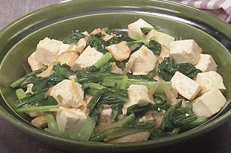 鶏肉、豆腐、小松菜の塩炒め(田口成子)