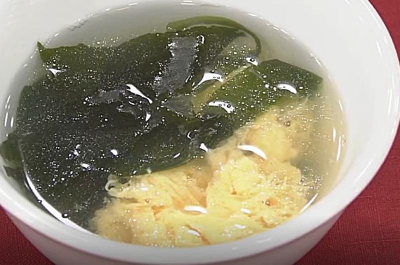 わかめとたまごのスープ(栖原一之)