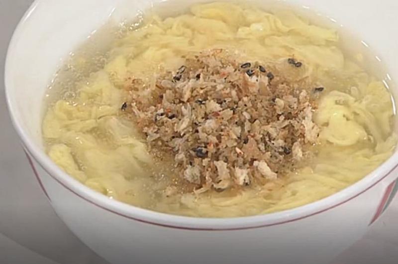 かきたま汁 カリカリパン粉がけ(近藤幸子)