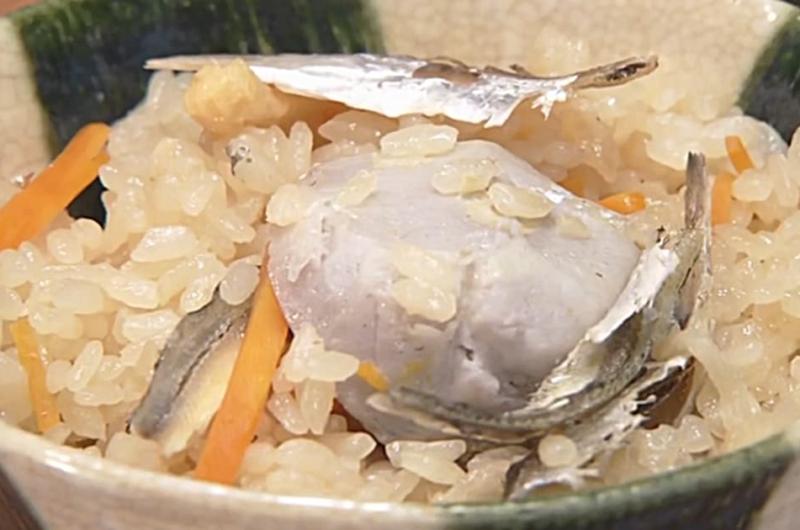 里芋といりこの炊き込みご飯(しらいのりこのしみじみ秋おかず)